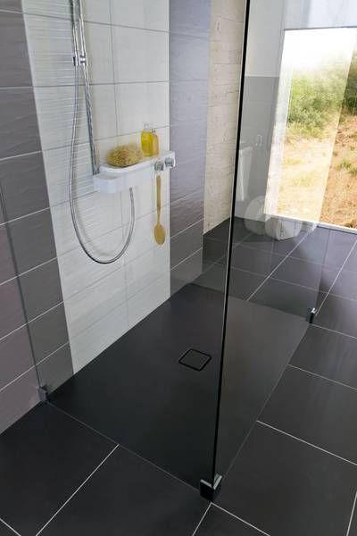 1 Emaillierte Duschflache Conoflat Von Kaldewei In Lavaschwarz Matt Bodengleiche Dusche Fliesen Dusche Dusche