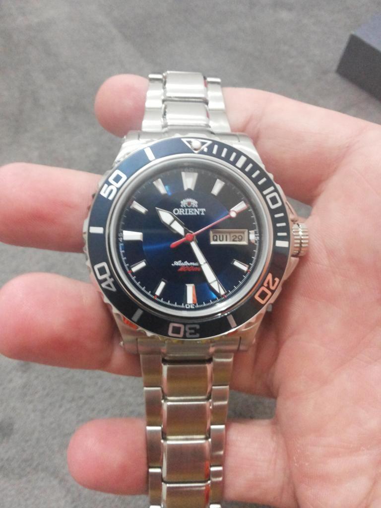7e706ff5fcb  SUB  Relógio Orient Automático Azul 469SS048 R 753