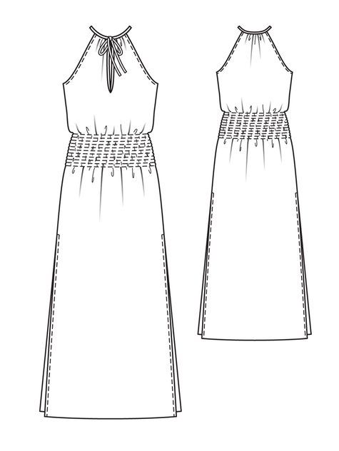 Smocked Maxi-Dress 02/2013 #104 | Maxi dresses, Sewing patterns and ...