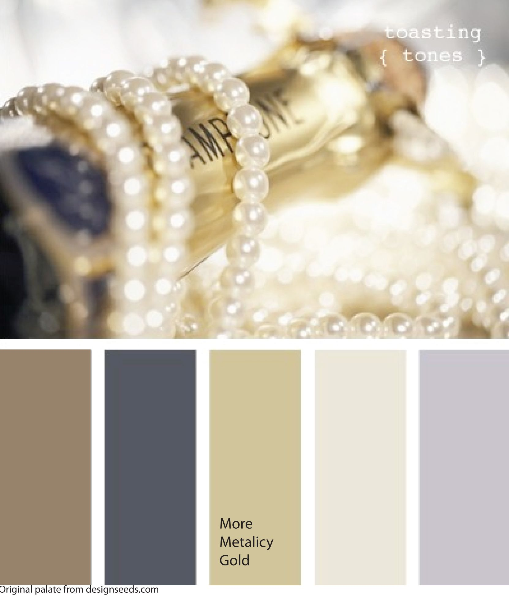 i like the champagne & pearls image for inspiration. similar to the ...