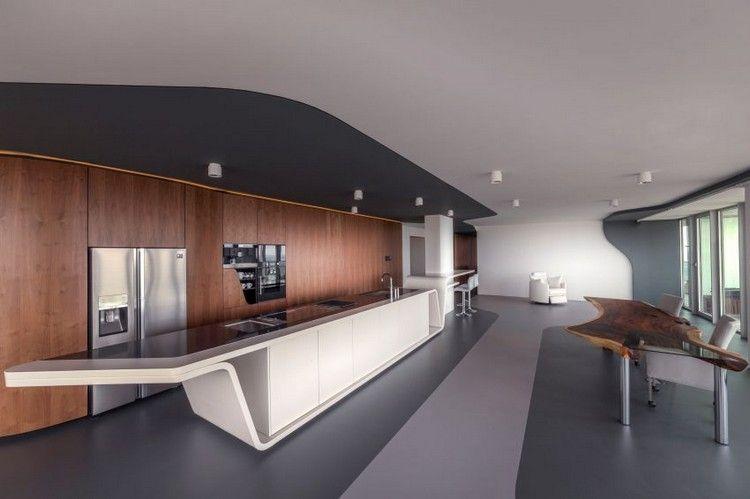 modern wohnen neutrale farben, modern wohnen in neutralen farben – eine luxuswohnung mit ausblick, Design ideen