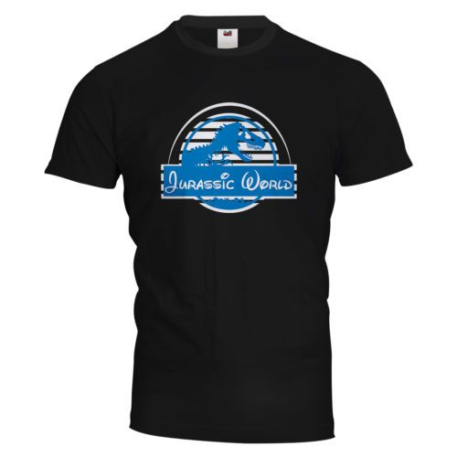 7ffbfb138aa Jurassic-World-Vinyl-T-Shirt-Jurassic-Park -Disney-Dinosaurs-100-Cotton-FREE-P-P