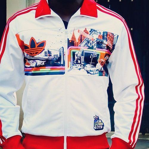 The Adidas Originals NYC Manhattan Track Top by
