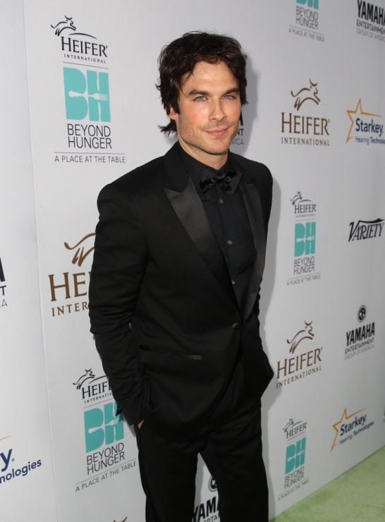 Ian Somerhalder is dapper in a black tuxedo while attending the 2014 Heifer International's Beyond Hunger: A Place At The Table Gala held at Montage Beverly Hills on Friday (August 22) in Beverly Hills, Calif.