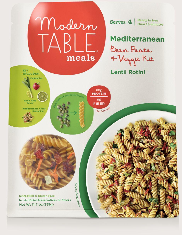 Modern Table Meals Mediterranean Bean Pasta Veggie Kit