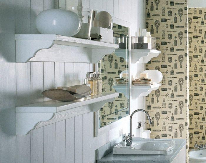 Boiserie da bagno nuovo mondo scandola bathroom pinterest bagno mensole e bagni - Boiserie in legno per bagno ...