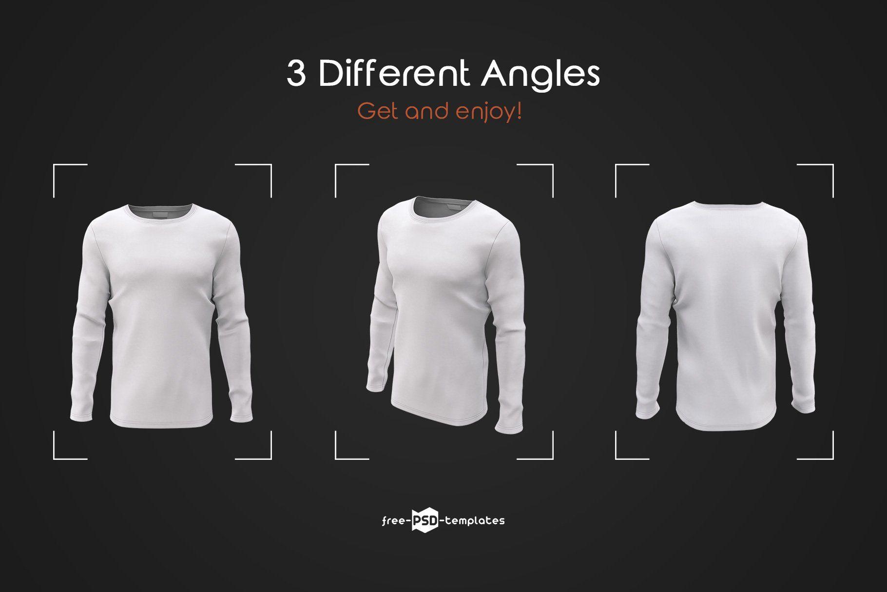 Download Mens Long Sleeve T Shirts Mockup Set Shirt Mockup Men S Long Sleeve T Shirt Tshirt Mockup