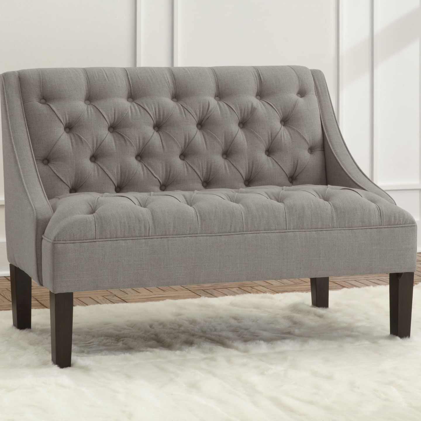 Different Types Of Sofa Settee Sock Arm: Skyline Furniture Settee Loveseat - Love This High-back Loveseat