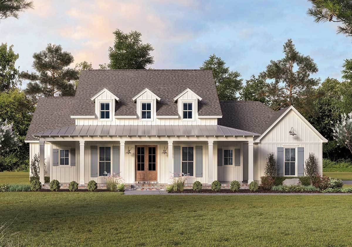 Desirable One-Level Farmhouse Plan with Ample Storage Space - 56432SM   Architectural Designs - Hou
