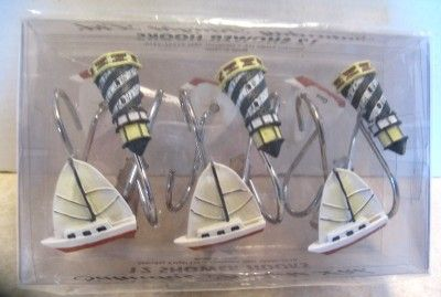Lighthouse Bathroom Decor Lighthouse Shower Curtain Hooks