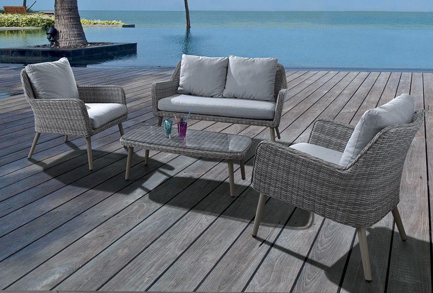 Salon MALDIVES Structure : alu et résine tressée. / de chez ...