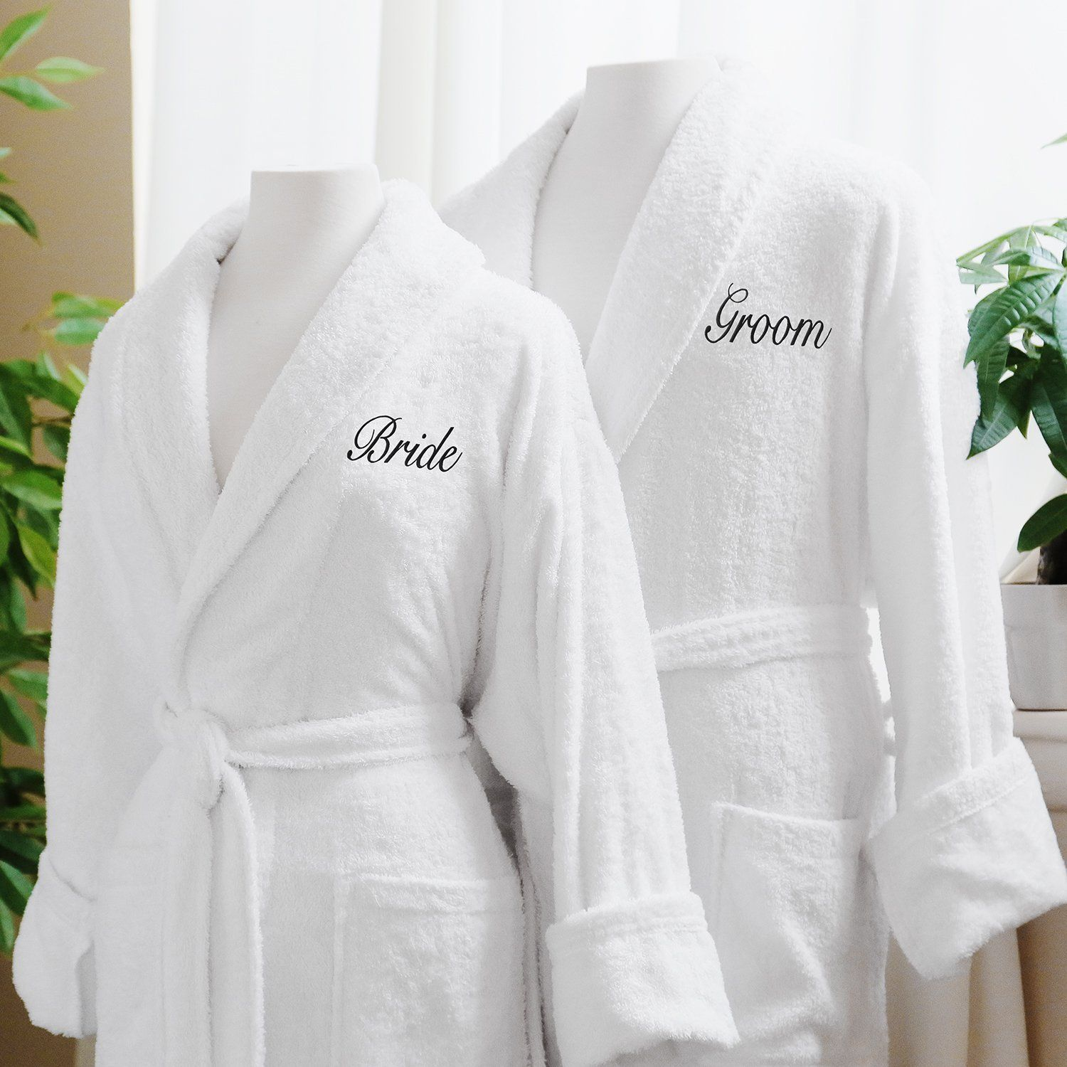 wedding gift, wedding robes, husband and wife, groom and bride, love ...