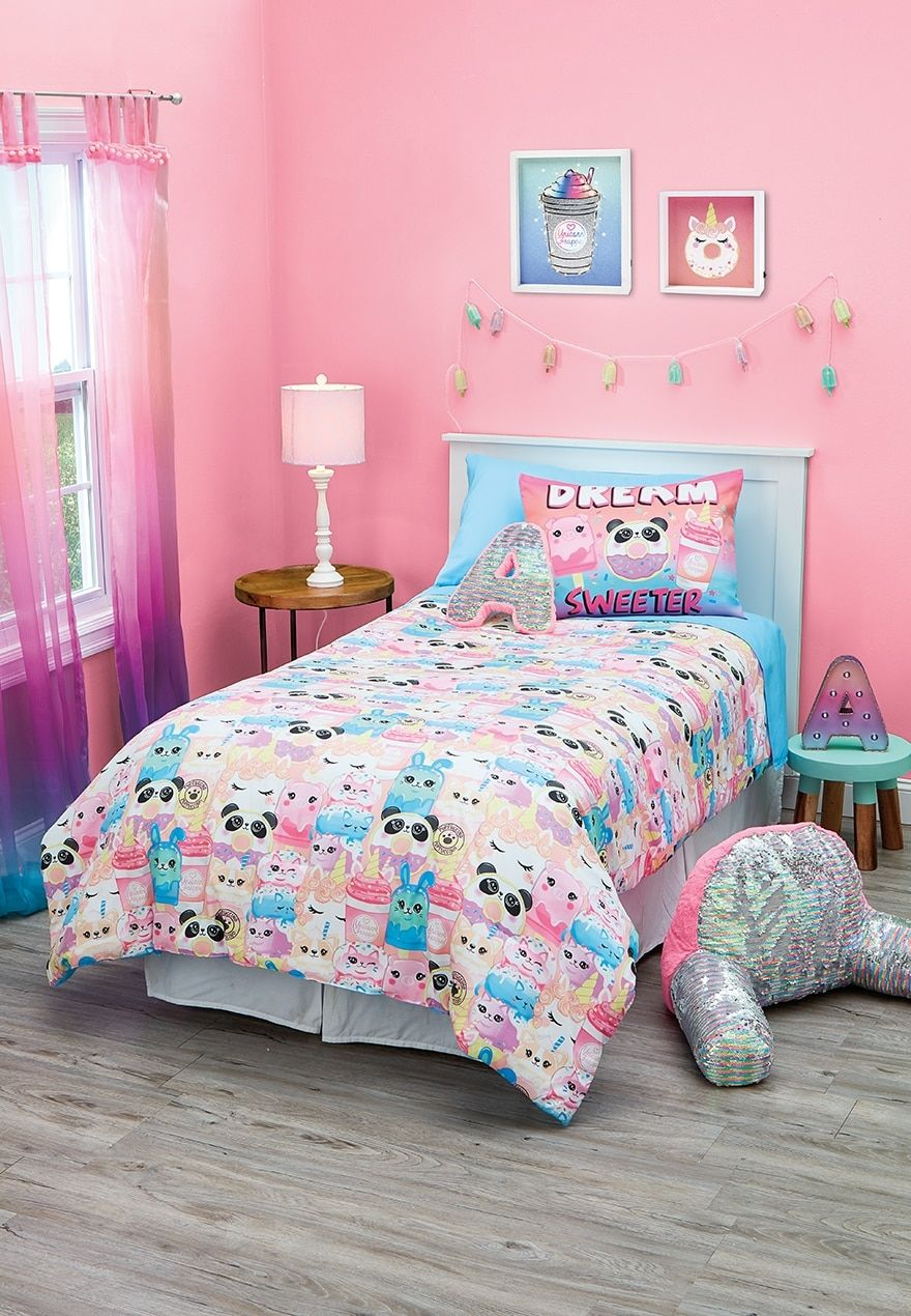 Sweet Treat 5 Piece Bed In A Bag Twin Size Justice Bed In A