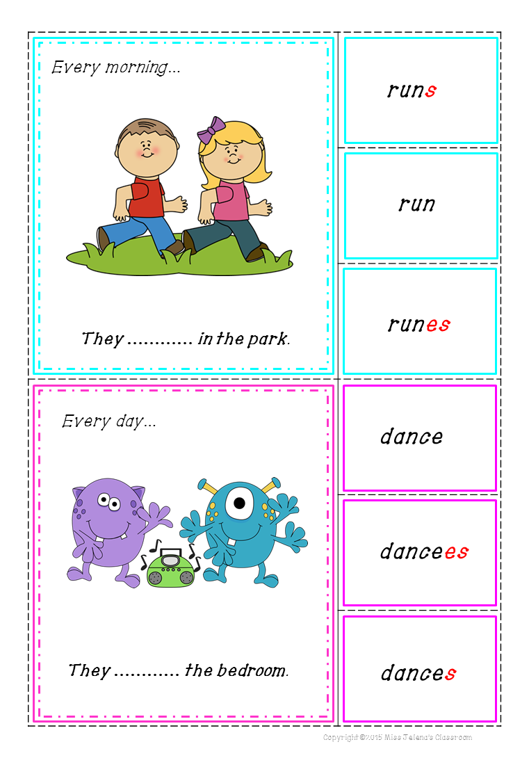 medium resolution of Everything you need to teach Present Simple Tense ( 70 pages in total) .  Clip it mat from …   Simple present tense