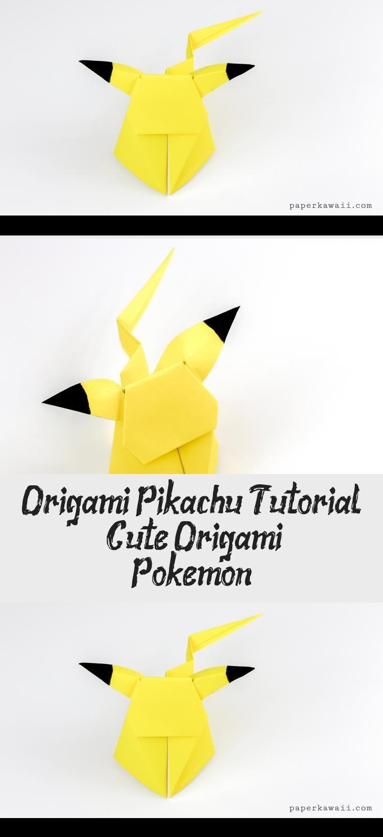 Photo of Origami Pikachu Tutorial – Süßes Origami Pokémon! – Papier Kawaii #origamiHeart #o …
