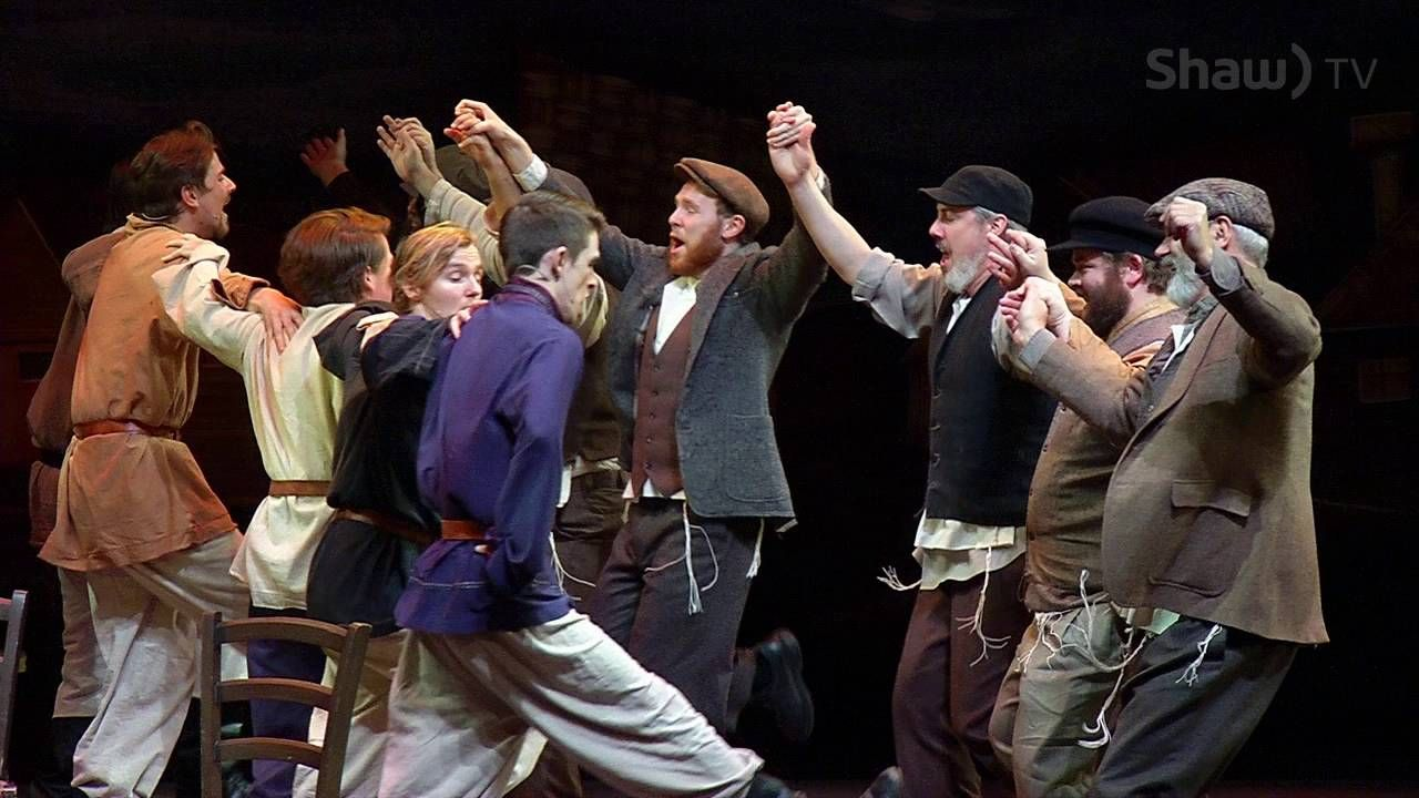 """""""L'chaim"""" performed by Royal City Musical's Fiddler on the"""