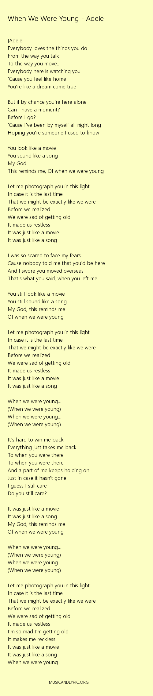 Adele when we were young lyrics pdf musicandlyrics adele adele when we were young lyrics pdf musicandlyrics hexwebz Image collections