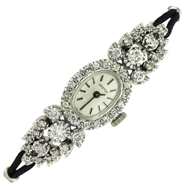 Croton Diamond Art Deco Watch