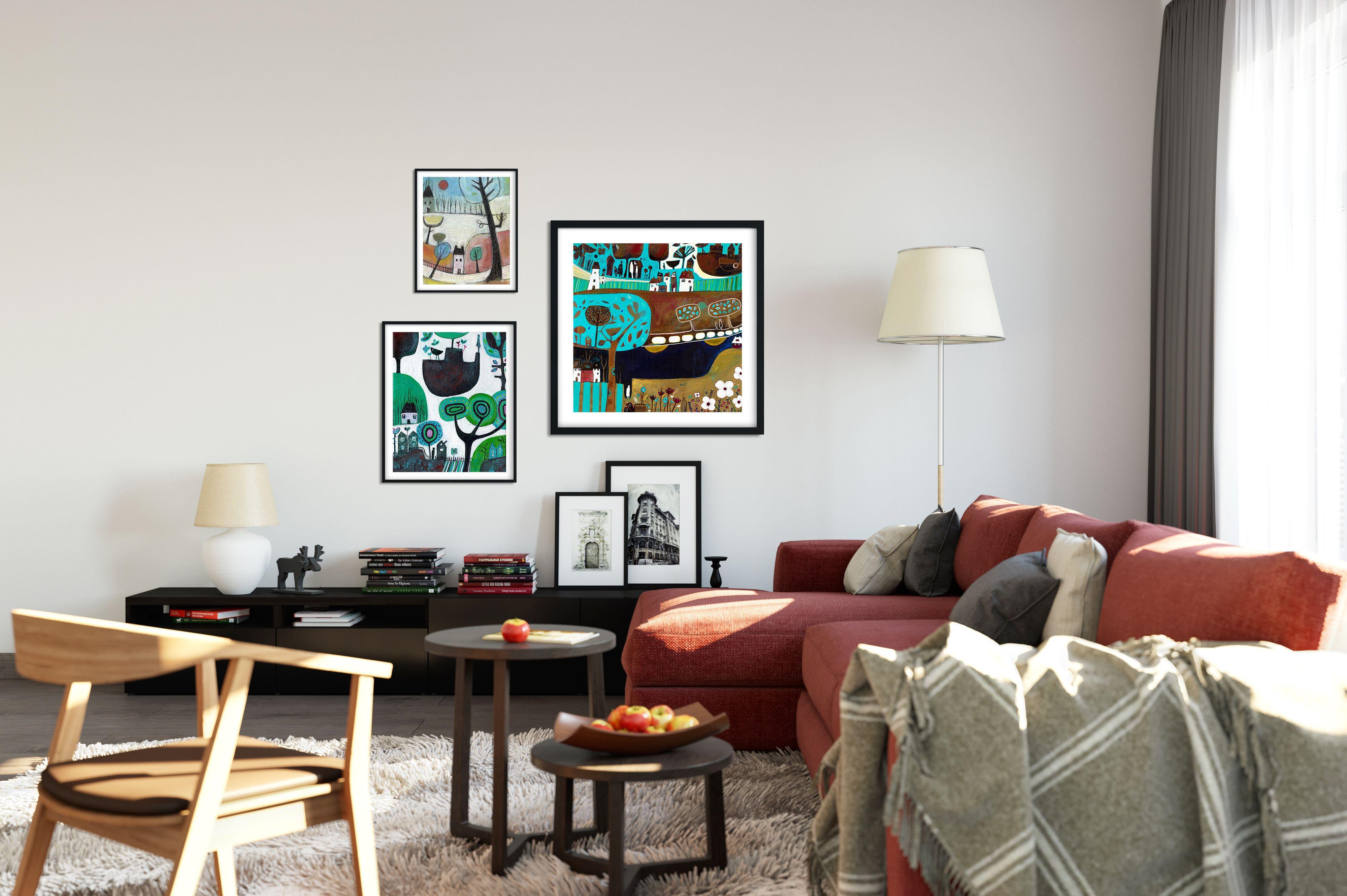 Beautiful Landscape Acrylic Painting For Living Room #Laylart #Laylartstudio #Acrylic