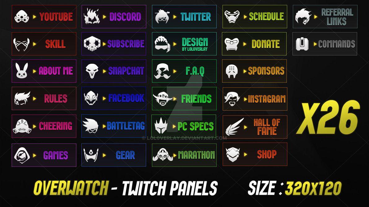 Overwatch - Twitch Panels by lol0verlay | twitch | Overwatch