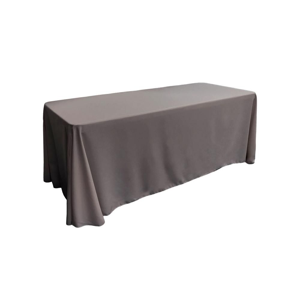 La Linen 90 In X 132 In Dark Teal Polyester Poplin Rectangular Tablecloth Tcpop90x132 Tealdrkp82 Poplin Tablecloths For Sale Tablecloth Rental