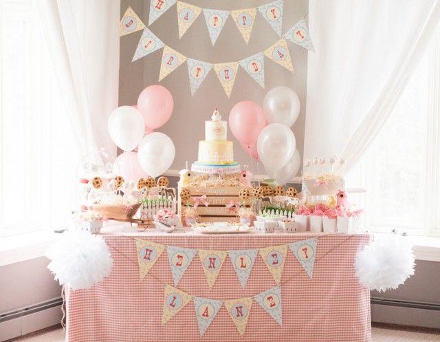 a gorgeous farm 1st birthday party