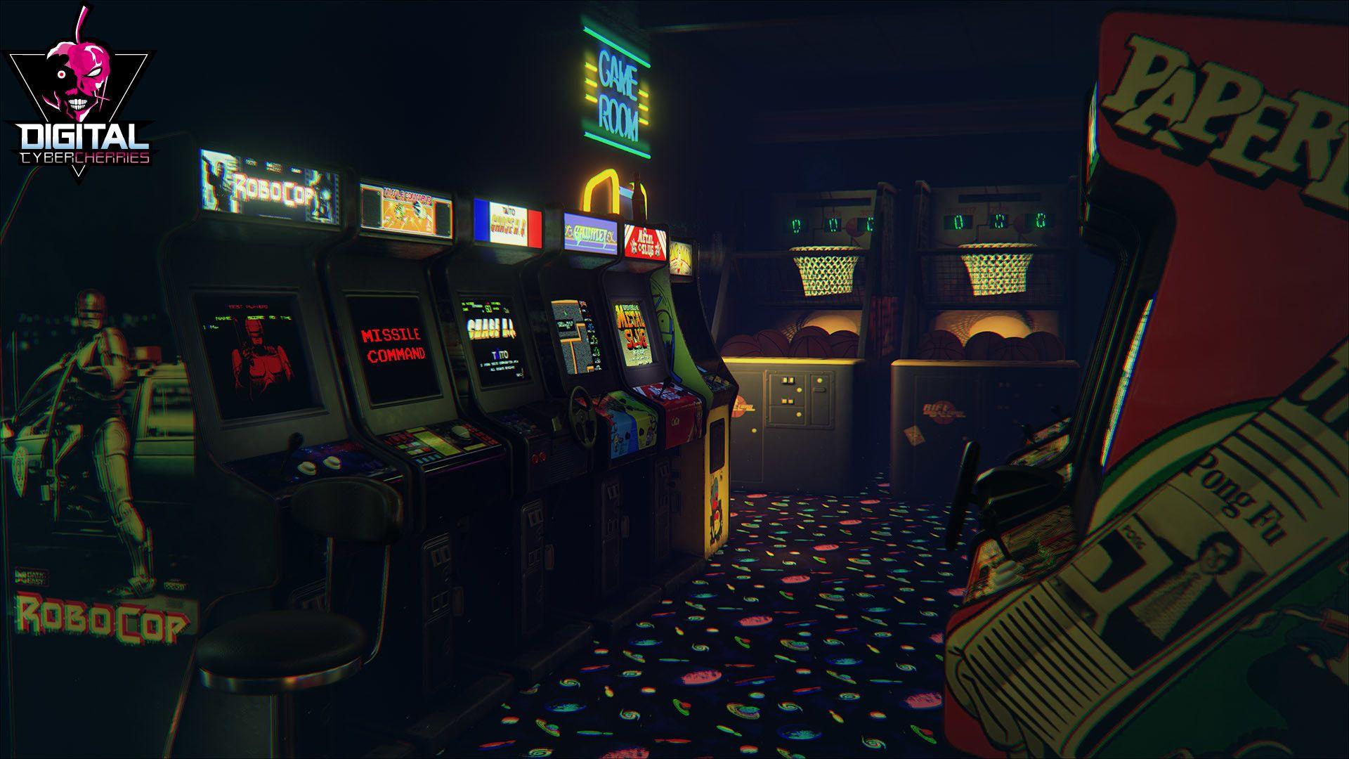 Retro Arcade Wallpaper