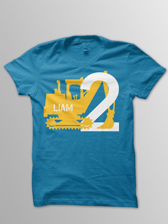Digger Birthday Shirt Toddler Construction T