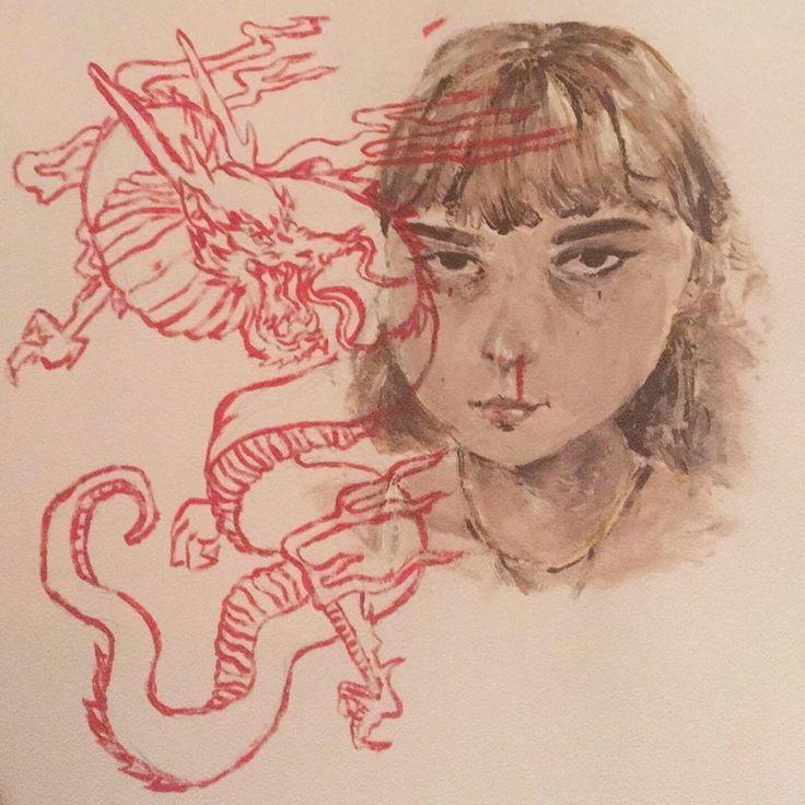 an acrylic painting of myself my realistic-ish art