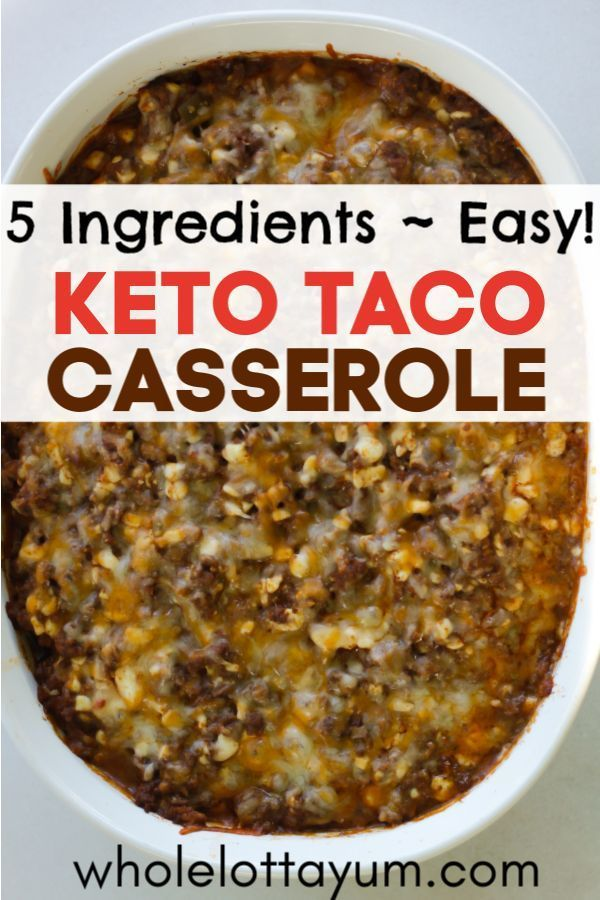 An easy low carb and keto taco casserole that makes a quick and easy keto dinner images