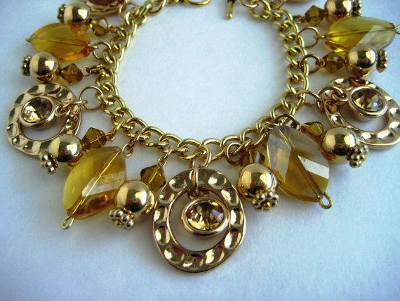Hey, I found this really awesome Etsy listing at https://www.etsy.com/listing/455800792/gold-tone-fashion-charm-bracelet