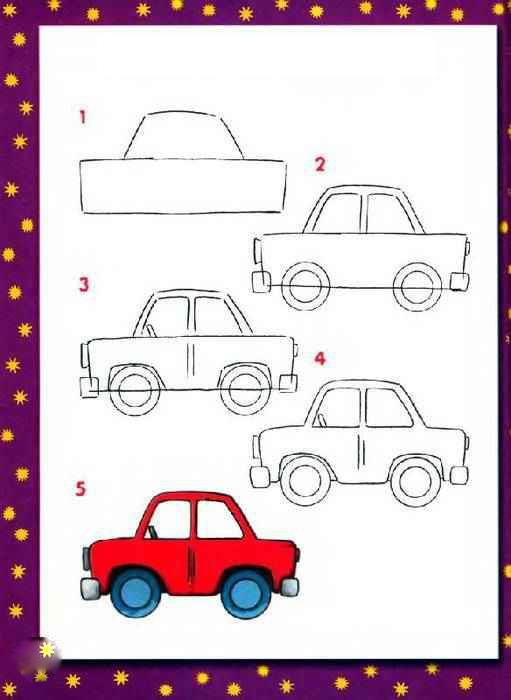 How To Draw A Car Kids Activities In 2019 Drawings Car Drawing
