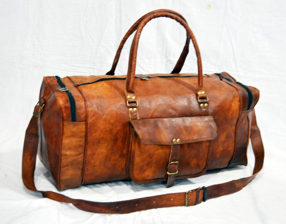 0af2368fa5cb New Men s Genuine Brown Leather Large Vintage Duffle Travel Gym Travelling  Bag  Handmade  DuffleGymBag