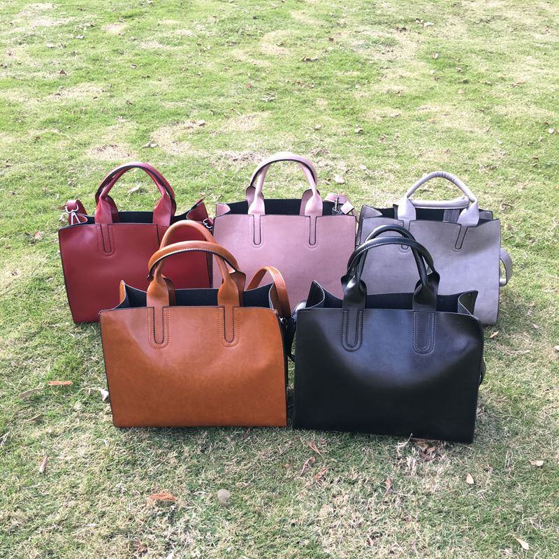 b529e1aa1d51 Wholesale Blanks Rectangle PU Faux Leather Shoulder Bags Casual Tote Bag  Women s Large Handbag 5 Colors Price  US  11.5 - 12.5 Gender  Women.  Material  PU.