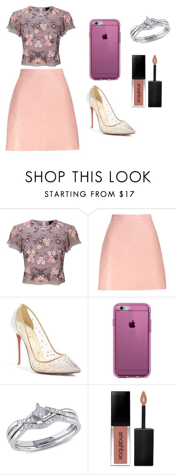 """Sans titre #4150"" by merveille67120 ❤ liked on Polyvore featuring Needle & Thread, Christian Louboutin, Speck and Smashbox"