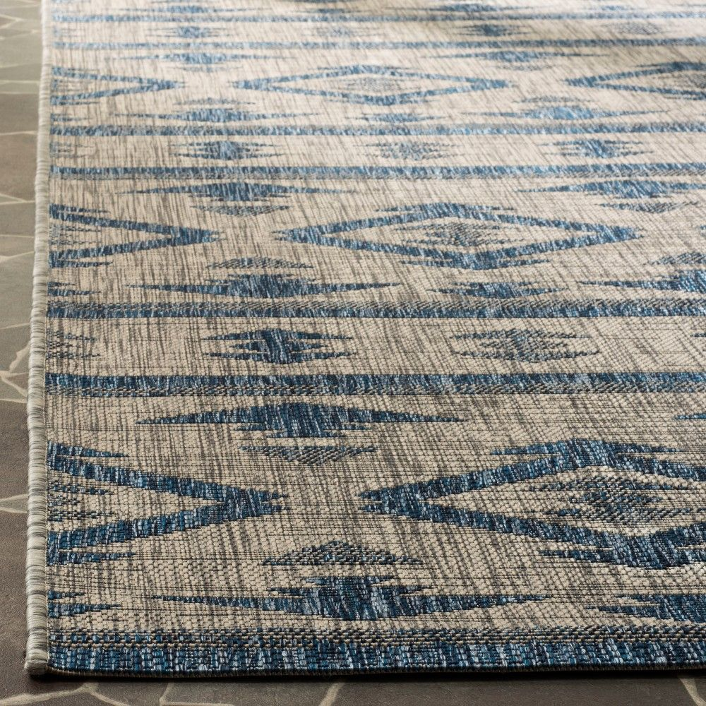 8 X 11 Yarrow Outdoor Rug Navy Gray Safavieh Navy Rug Outdoor Rugs Rugs