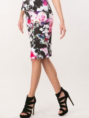 Lipsy Oversized Floral Pencil Skirt available on koovs.com | buy ...