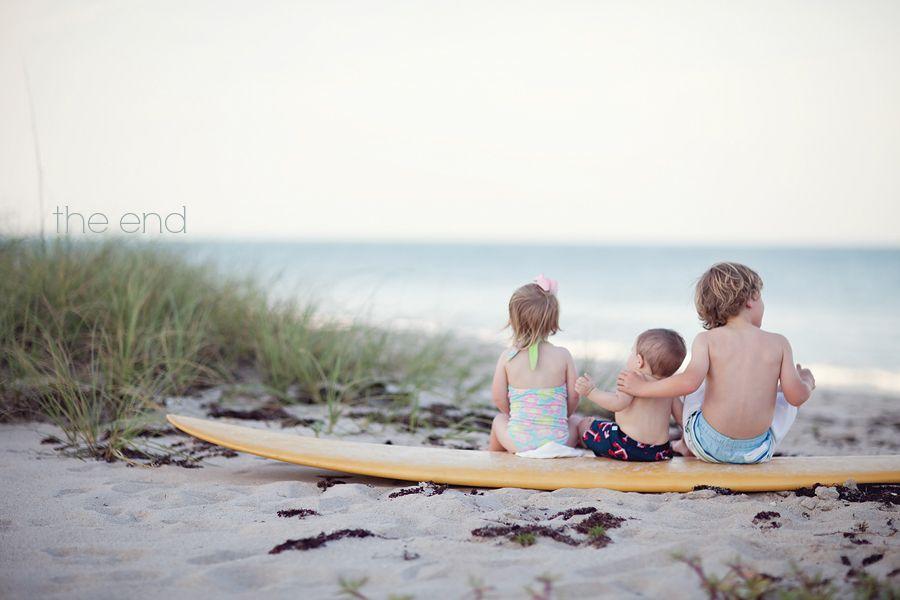 Beach Family Vintage Surfboard