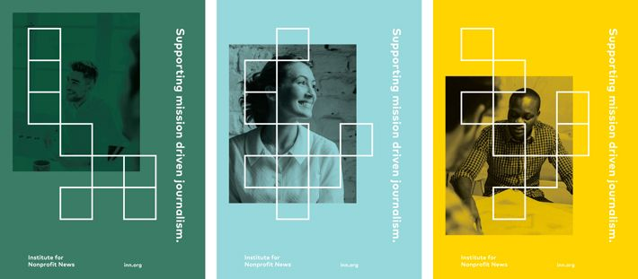 Picture of 3 designed by Studio Anthony Lane for the project Institute for Nonprofit News. Published on the Visual Journal in date 21 May 2015