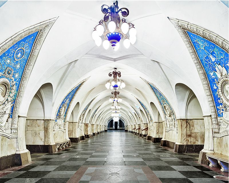 Photo: by David Burdeny. Astonishingly beautiful subway and metro stations will add beautiful travel destinations to your bucket list as BeautifulNow celebrates the beauty of movement in today's BN Daily Fix.  #Beautiful #Russia #architecture #railways #station #photography