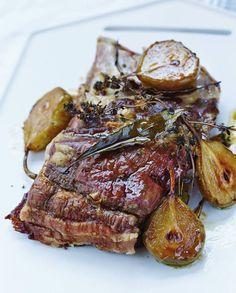 Porc très confit aux poires rôties pour 4 personnes - Recettes Elle à Table
