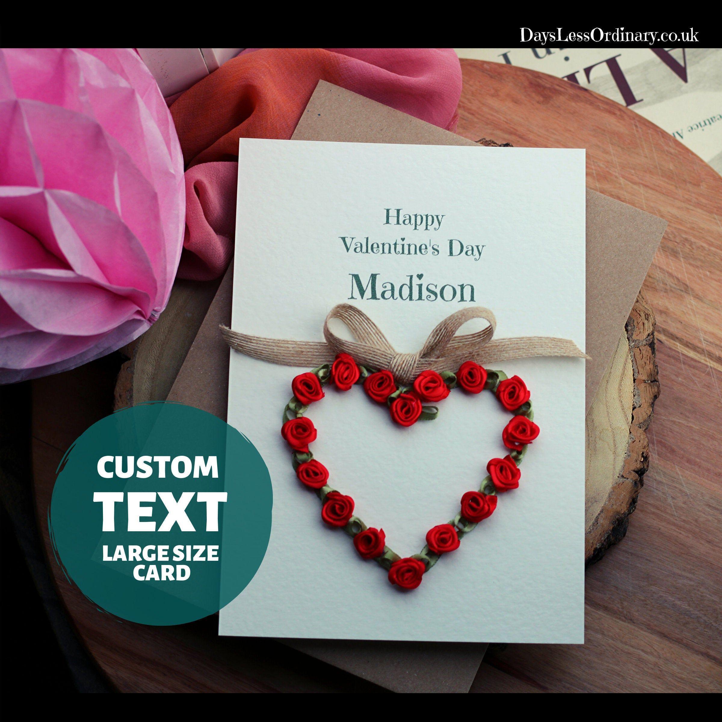 New girlfriend valentines day card lover valentine gift