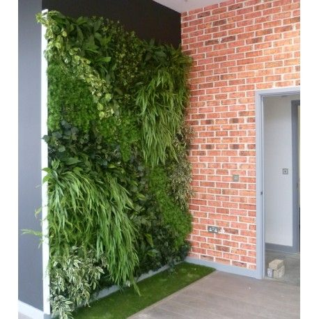 Indoor Green Walls with Artificial Foliages, Custom Made to Order