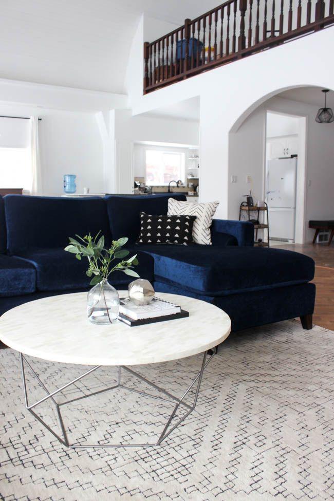 Modern Living Room Reveal - Love Create Celebrate