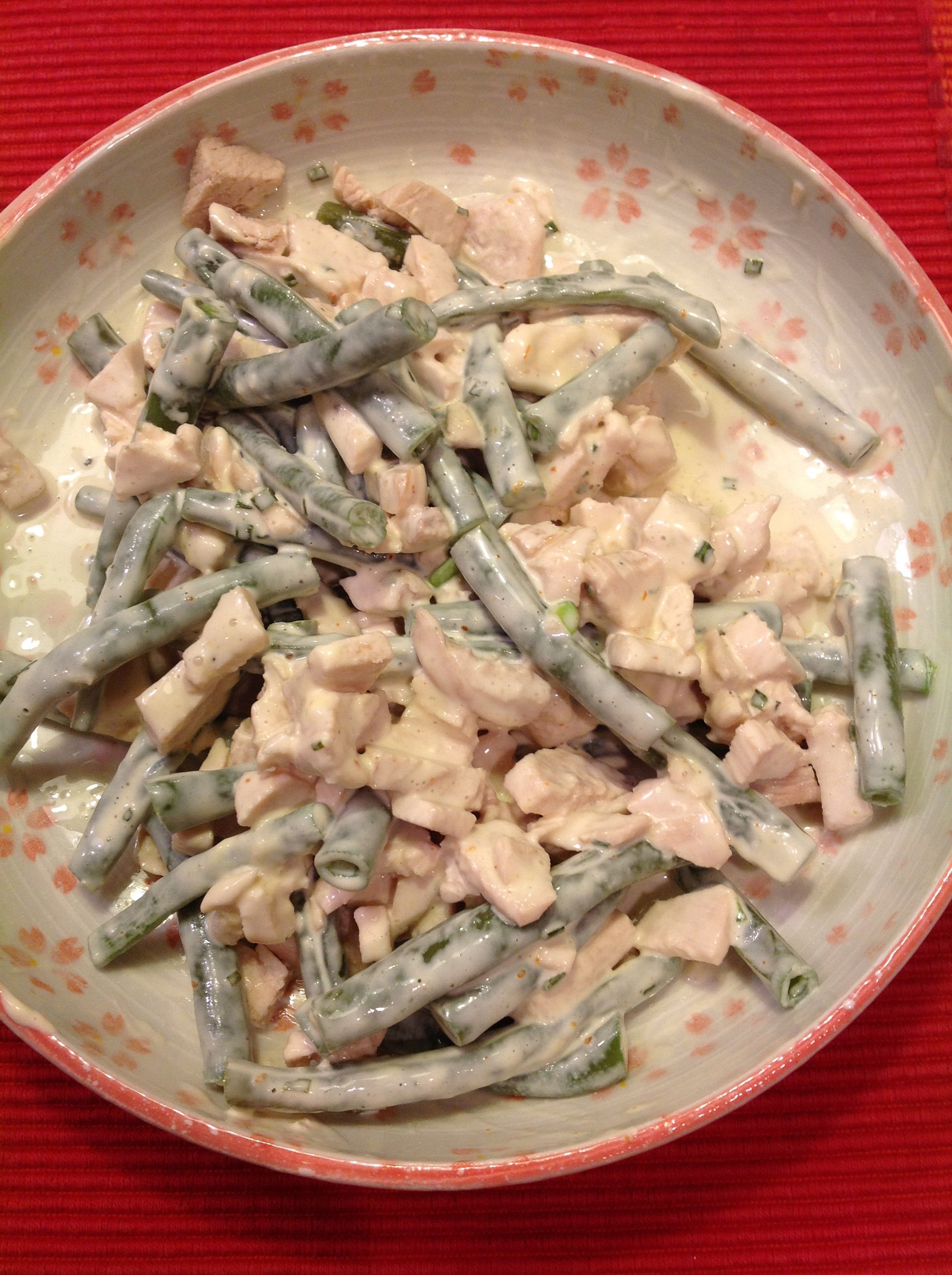 Chicken, green bean salad