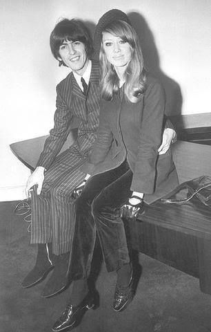 George Harrison And Pattie Boyd From Facebook Page Patricia Anne The Muse