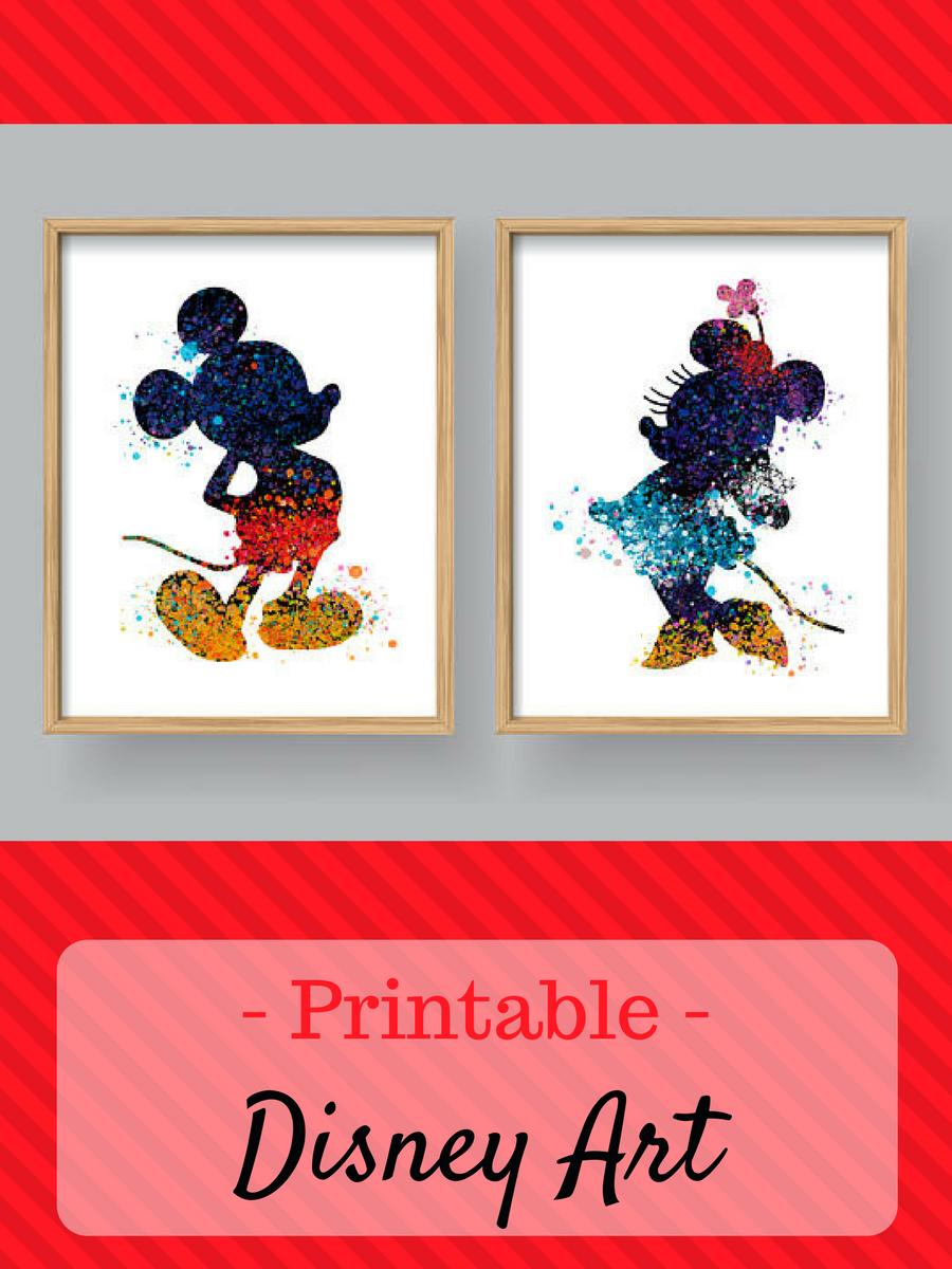 Mickey Mouse Minnie Wall Art