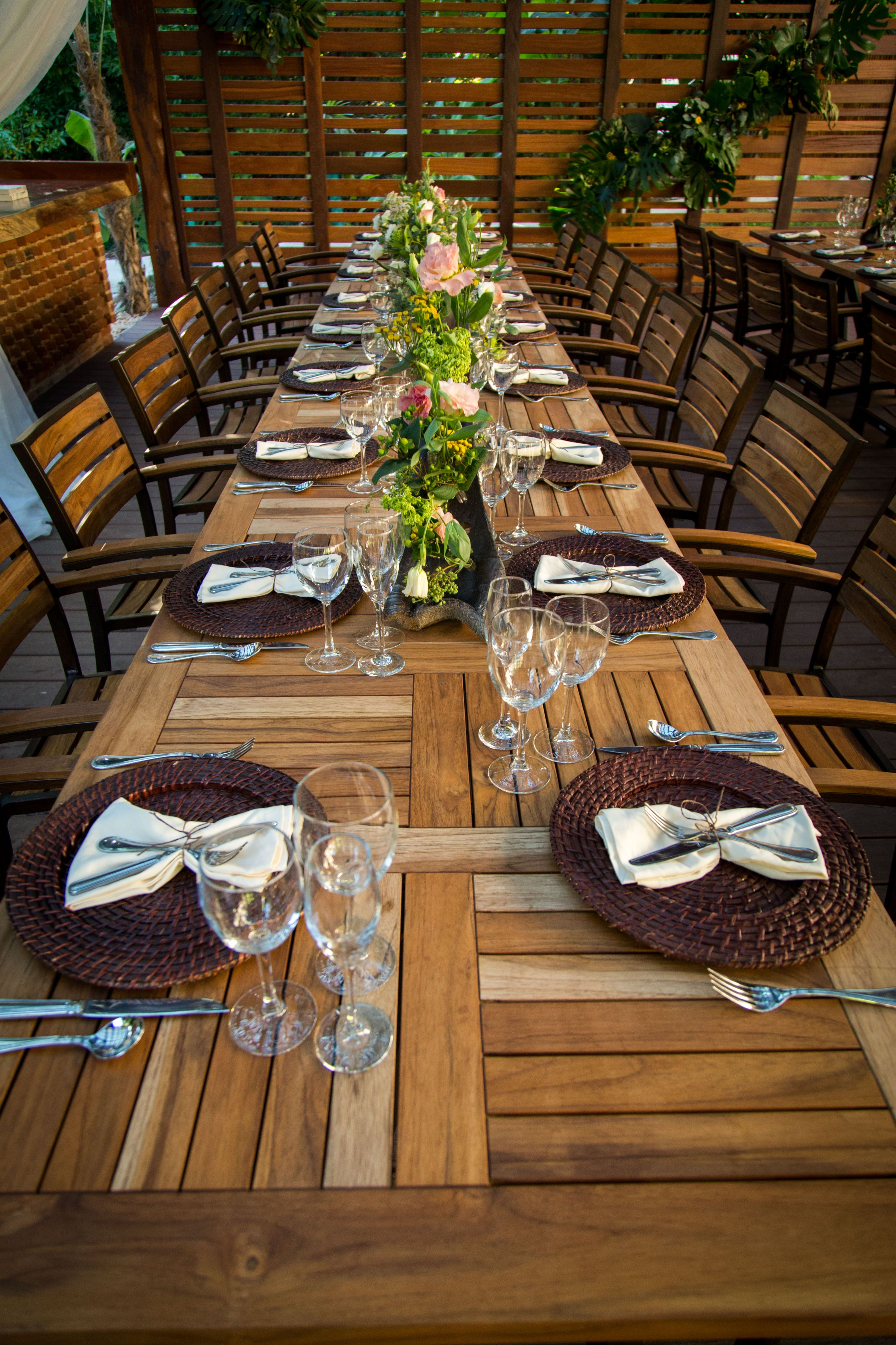Beautiful reception setup in the Chef\'s Garden here at Dreams ...