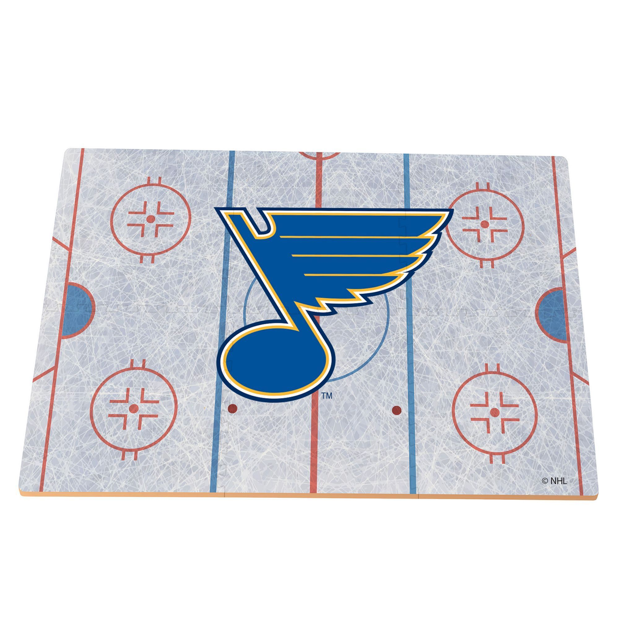 St louis blues replica hockey rink foam puzzle floor multicolor