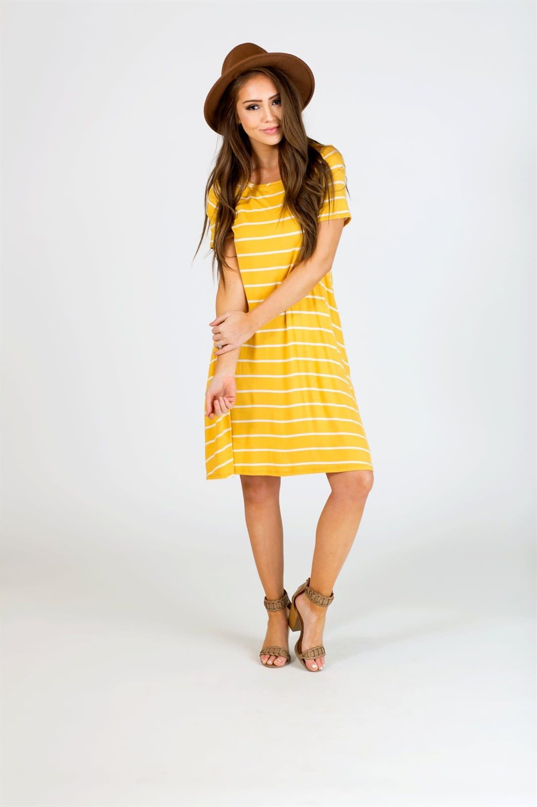 Striped Pocket Swing Dress Modest Spring Dresses Swing Dress Summer Swing Dresses [ 1600 x 1066 Pixel ]